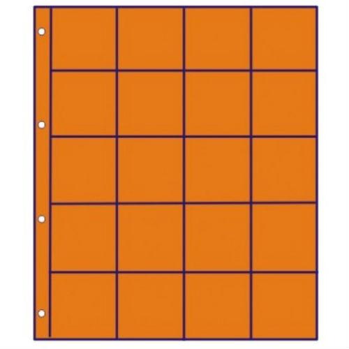 Hartberger schutbladen oranje met vakverdeling - 20 vakken GMO20R