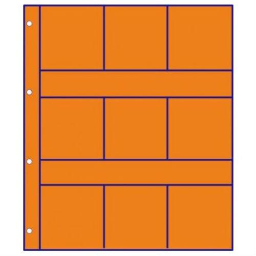 Hartberger schutbladen oranje met vakverdeling - 9 vakken GMO9R