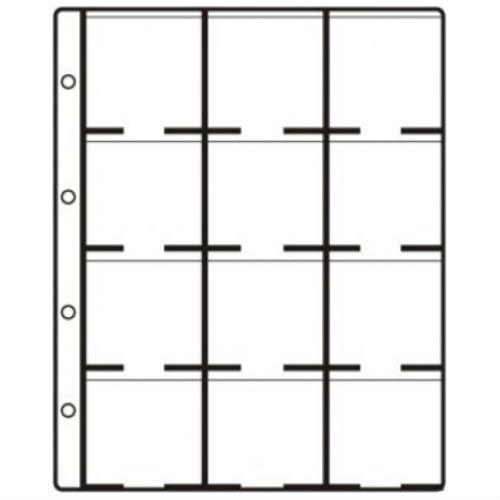 Hartberger aanvullingsbladen LK 12 standaard  voor munten -  12 vakken