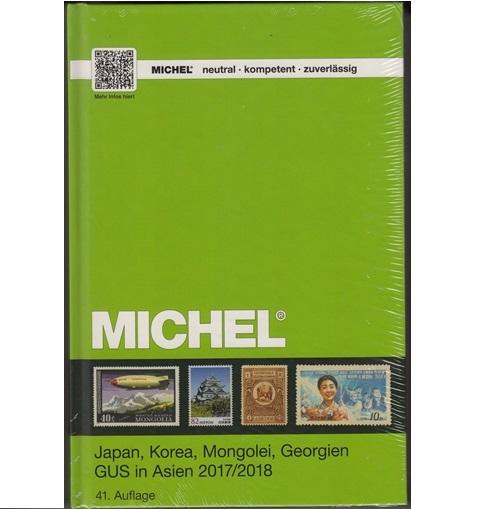 Michel postzegelcatalogus Japan, Korea, Mongolië, GOS-Azië  2017 / 2018