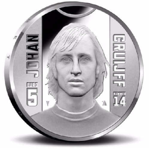 Cruijff 5 euro zilver proof