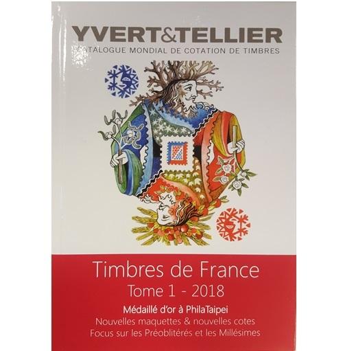 Yvert en Tellier Frankrijk postzegelcatalogus 2018 Tome I