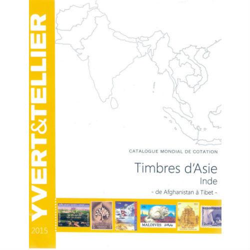 Yvert en Tellier postzegelcatalogus Azië / India 2015