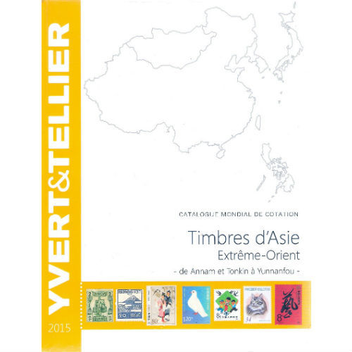 Yvert en Tellier postzegelcatalogus Azië  Verre Oosten 2015