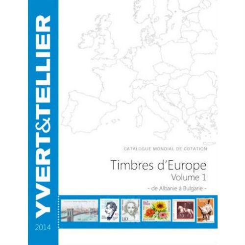 Yvert en Tellier postzegelcatalogus Europa A-B 2014 deel 1