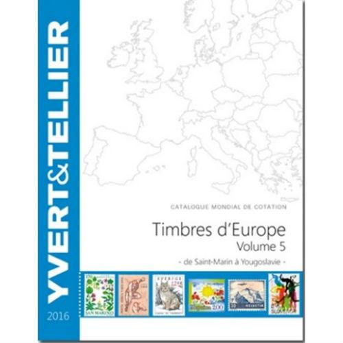 Yvert en Tellier postzegelcatalogus Europa S-Y 2016 deel 5