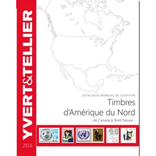 Yvert en Tellier postzegelcatalogus Noord Amerika 2016
