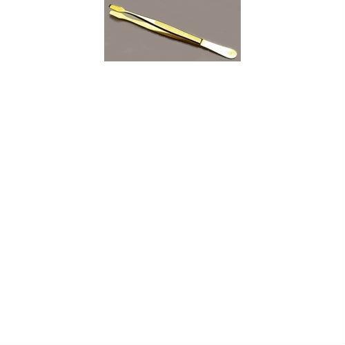 Davo pincet model schop, recht kleur verguld (43)