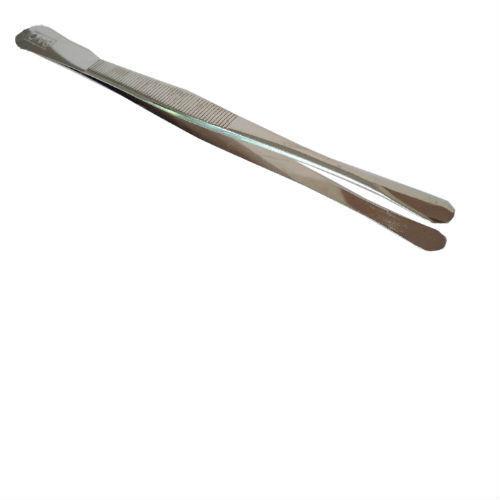Davo pincet model Groot rond, kleur zilver (58)