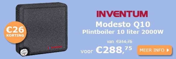 Inventum Modesto Q10 plintboiler 10 liter 2000W actie