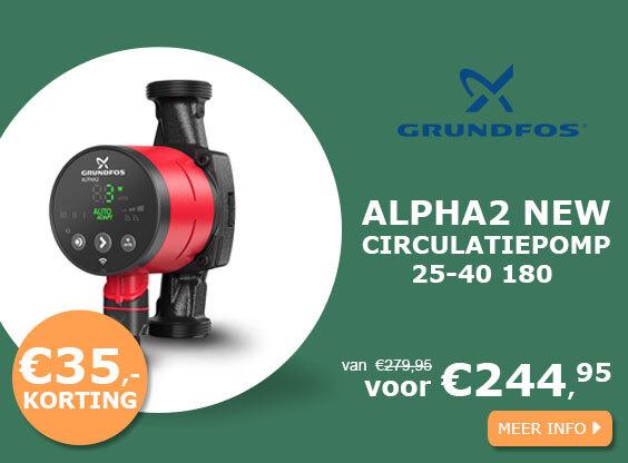 Grundfos ALPHA2 NEW 25-40 180 circulatiepomp