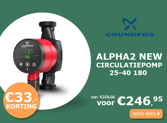 Grundfos ALPHA2 NEW 25-40 180 circulatiepomp