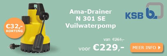 Ksb Ama-Drainer N 301 SE vuilwaterpomp actie
