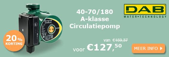 Dab Evosta 40-70/180 A-klasse circulatiepomp actie