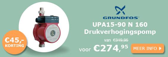 Grundfos UPA15-90 N 160 drukverhogingspomp actie