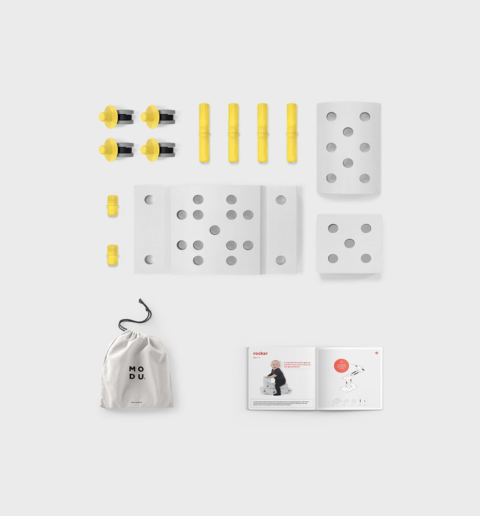 MODU Curiosity bouw- en speel-kit S/geel