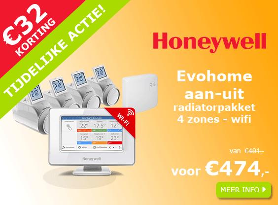 BHoneywell Evohome WIFI 4 zones aan-uit radiatorpakket