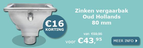 Zinken vergaarbak Oud Hollands 80 mm aanbieding
