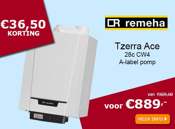 Remeha Tzerra Ace 28c CW4 met A=label pomp