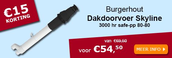 Burgerhout dakdoorvoer Skyline 3000 hr safe-pp 80-80 zwart