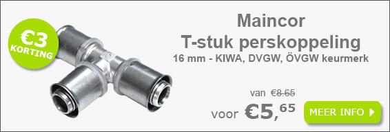 Maincor T-stuk perskoppeling 16 mm
