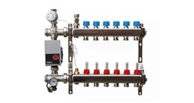 RVS vloerverwarming verdelers bovenaansluiting