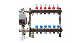 RVS vloerverwarming verdelers Onderaansluiting