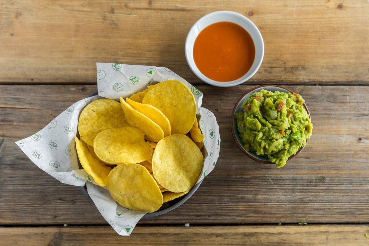 Nachos, Guacamole & Dip