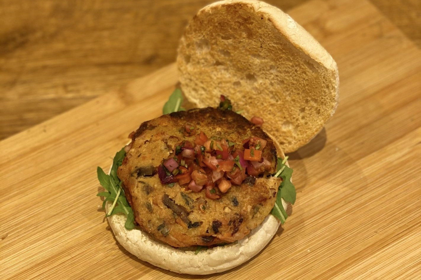 Vergeten groenten burger (vegan)