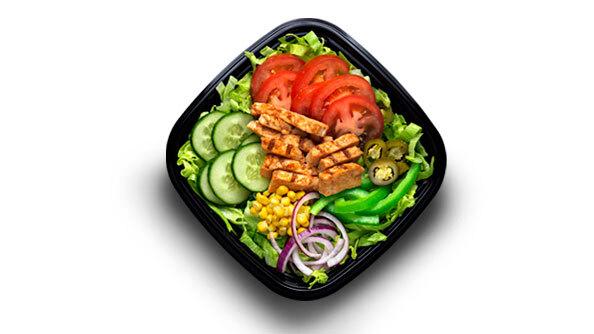 Chicken fajita salade