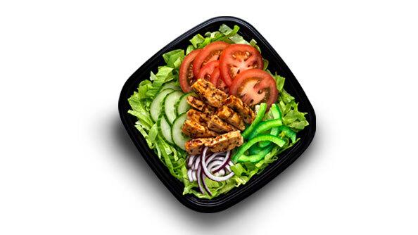 Chicken teriyaki salade